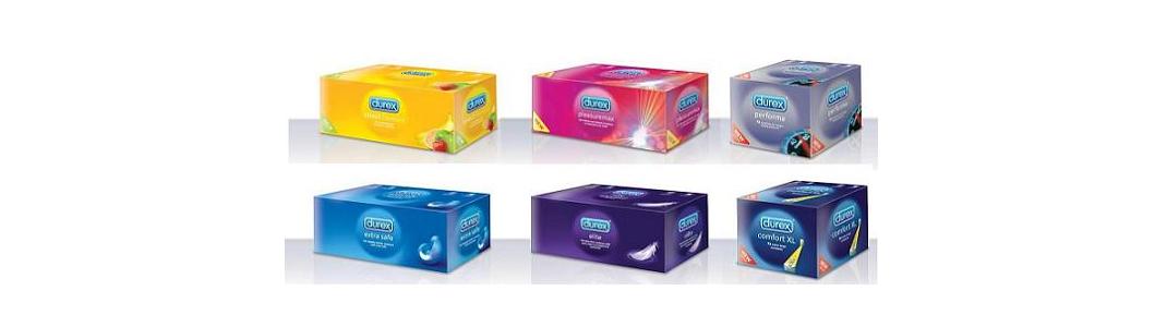 Caja de 144 unidades de condones Durex