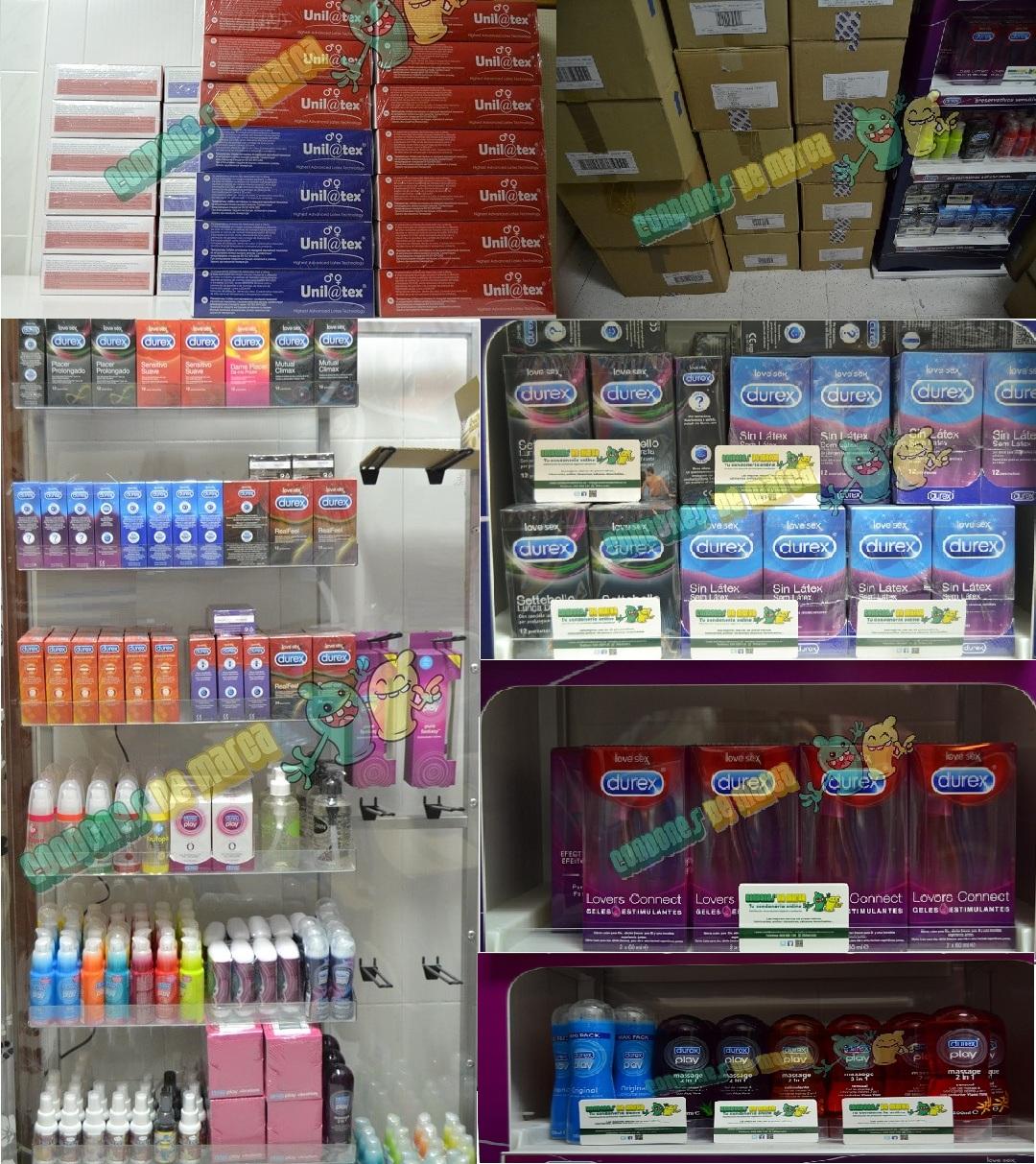 Almacen condones preservativos lubricantes