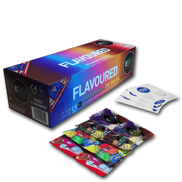 Exs Flavoured / Sabores 144 preservativos