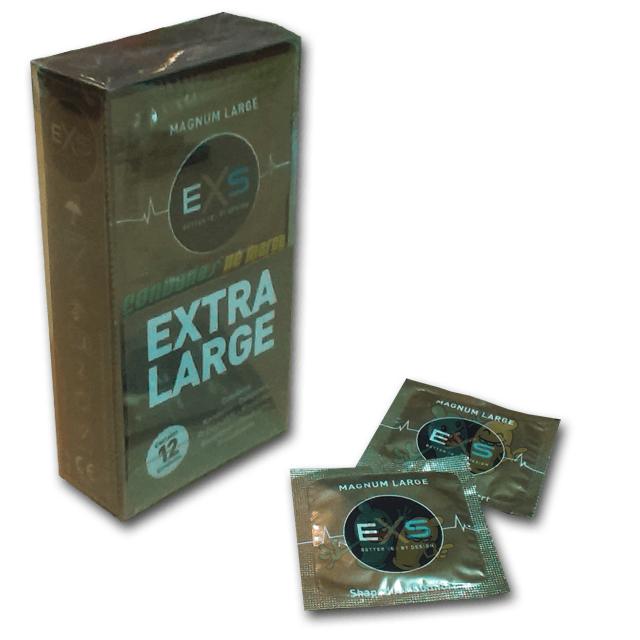 Exs Magnum Large XL 12 preservativos
