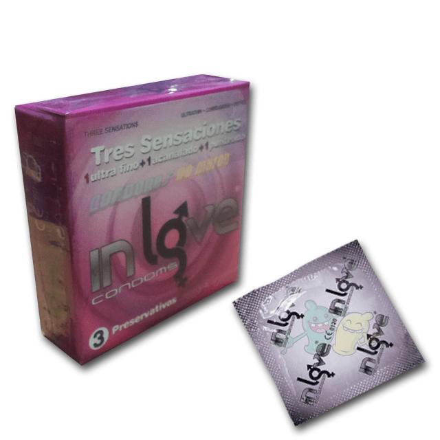 In Love Tres Sensaciones 3 condones